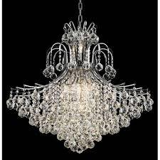 toureg chrome fifteen light 31 inch chandelier with royal cut clear crystal