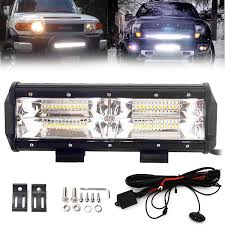 240sx Fog Light Switch Amazon Com 10 Inch Led Light Bar For Off Road Trucks Jeep