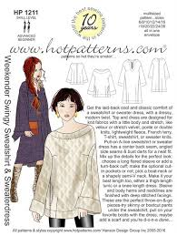 Sweatshirt Pattern Interesting HP 48 Weekender Swingy Sweatshirt Sweaterdress HotPatterns