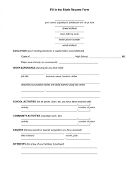 Resume Template Fill In Delectable Resume Forms Safero Adways