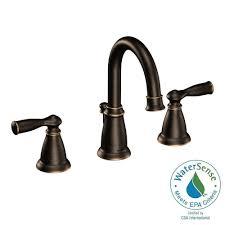 moen banbury 8 in widespread 2 handle bathroom faucet in terranean bronze