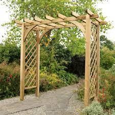 horizon wooden large garden arch