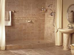 Small Picture Tiled Shower Ideas Ceramic Tile Shower With Tumbled Marble