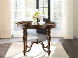 furniture archivist pecky pecan with ebony inlay 40 wide round center foyer table