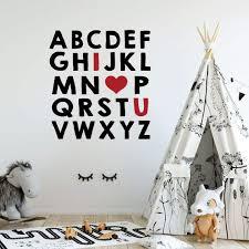 nursery wall decal alphabet letters i