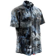 Huk Nxtlvl Kryptek Short Sleeve Shirt Neptune