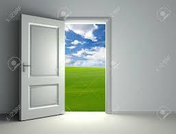 wide open doors. Interesting Doors Stock Photo  White Open Door Inside Empty Room With View To Green Field  And Cloud Sky Background On Wide Open Doors P