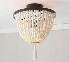 tunis beaded flushmount pottery barn in pottery barn flush mount chandelier view 40 of