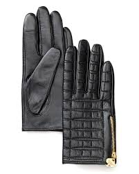 kate spade new york Quilted Logo Leather Tech Gloves   Bloomingdale's &  Adamdwight.com