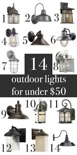 farmhouse craftsman rustic outdoor wall lights under 50