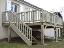 Realiser Une Terrasse Sur Pilotis Terrasse En Hauteur Beton 13 Construire  Terrasse Bois Pilotis. «