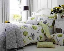 cotton rich ine white green grey duvet cover set cushions and bedspread