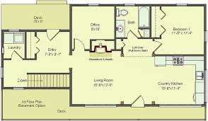 lovely one floor house plans with walkout basement new