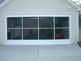 image of retractable garage door screens