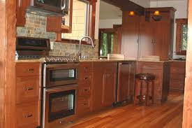modern kitchen cabinets cherry. Natural Cherry Kitchen Cabinets With Granite Countertop And Tile Backspalsh Plus Light Wooden Flooring For Modern Design Ideas