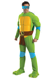 ninja turtles costumes for men. Interesting Men Deluxe Adult Leonardo Front Throughout Ninja Turtles Costumes For Men Halloween