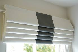 roman blinds. Exellent Blinds White Fabric And Bamboo Roman Blinds To