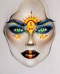 Pin By Dawnie K On Halloween In 2019 Makeup Face Charts