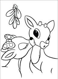 Christmas Reindeer Coloring Pages The Red Nosed Reindeer Coloring