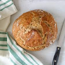 No Knead Whole Wheat Dutch Oven Bread A Mind Full Mom