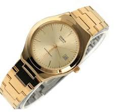 new casio gold dial gold tone stainless steel analog men watch mtp image is loading new casio gold dial gold tone stainless steel