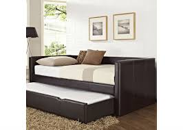 Leather Twin Pull out Bed