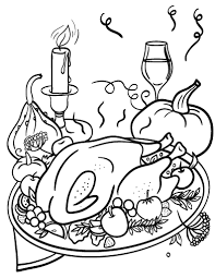 Small Picture Free Thanksgiving Dinner Coloring Page