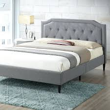 Gray Tufted Bed Bed Queen Beige Upholstered Diamond Tufted Gray ...