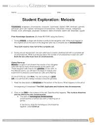 Cell division begin with a single cell and watch as mitosis and cell division occurs. Explore Learning Gizmo Student Exploration Meiosis Vocabulary Anaphase Chromosome Crossover Meiosis Chromosome Mitosis