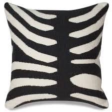black zebra pop throw pillow  modern holding category for