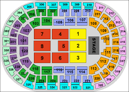 Ford Center Evansville Seating Chart With Seat Numbers Chesapeake Energy Arena Seating Chart Ticket Solutions