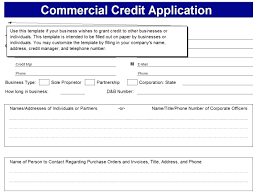 Business Credit Application Template Free Image Collections ...