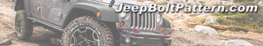 Jeep Bolt Pattern Chart Interesting Jeep CJ Bolt Pattern Guide Reference Chart JeepBoltPattern
