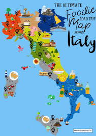 the ultimate map of what to eat in italy and where  hand luggage