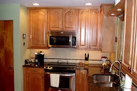 maple kitchen cabinets. Unique Cabinets Maple Kitchen Cabinets With Granite Countertop  After The  Throughout
