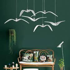 seagull pendant lighting. postmodern italian designer resin seagulls led pendant light for dining room living bar deco 80265v 2091 seagull lighting