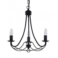 maypole traditional black 3 light ceiling pendant