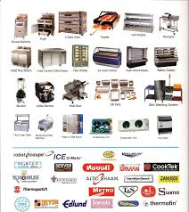 kitchen appliances list cozy popular formidable restaurant equipment with name of