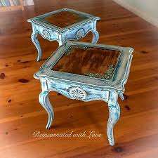 end tables french side tables set