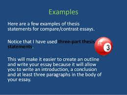 Writing A Thesis Statement For Compare Contrast Essay Compare And