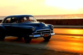 car insurance quote and auto insurance quote website sunset in havana cuba with