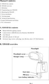 Battery Halogen Lights 939asd Mic Smart Guard Halogen Light User Manual Aurum