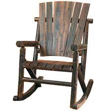 furniture com char log single rocker rocking chairs garden outdoor rustic chair cushions texas kit