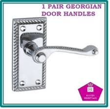 image is loading polished chrome georgian rope door handle options d1