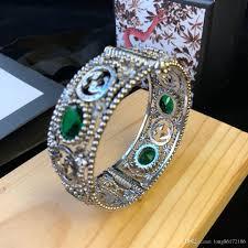 Flor Designer Discount Interlocking G Pattern Silver Bracelets Designer Bracelets Tiger Heads Emerald Jewelry 925 Sterling Silver Bracelets Interlocking G And Flor Gold