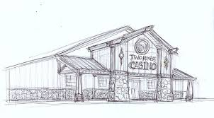 restaurant exterior drawing. Simple Drawing SKETCH  Casino Exterior Faade Sketch Decor Design Two Rivers  Throughout Restaurant Drawing