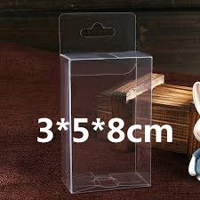 Decorative Display Boxes New 100Pcs 100100100cm Clear PVC Box With Hook On The Top Decorative 20
