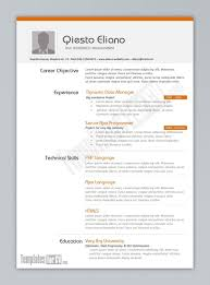 Resume Template Cv Templates Free Download Word The Unlimited In