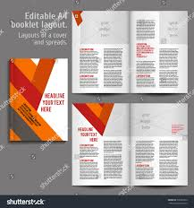 Design Spreads A4 Book Geometric Abstract Layout Design Stock Vector