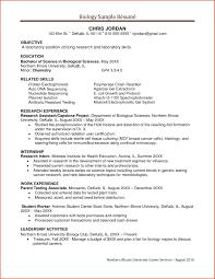 Biology Resume Samples Bio Resume Samples Shalomhouse Biology Resume Template Best Cover 2